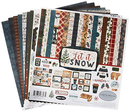 "Echo Park Paper Carta Bella Collection Kit 12""X12""-Let It Snow"