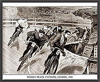 ポスター アーティスト不明 Women Track Cyclists 1898 額装品 ウッドベーシックフレーム(ブラック)