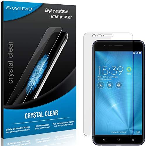 SWIDO Bildschirmschutzfolie für Asus Zenfone Zoom S [3 Stück] Kristall-Klar, Extrem Kratzfest, Schutz vor Öl, Staub & Kratzer/Folie, Glasfolie, Bildschirmschutz, Schutzfolie, Panzerfolie