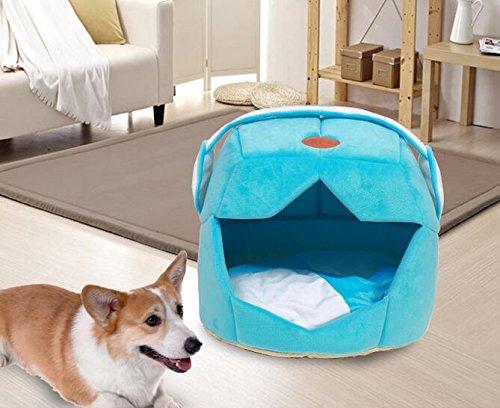 Panier pour animal domestique chaud Coton Chien Maison casque de l'espace en forme de chapeau Chiot chenil avec amovible Coussin de couchage, convient pour Entreprises Pets