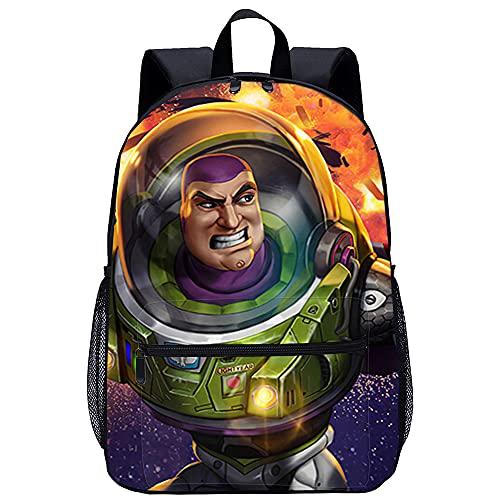 Toy Story Buzz Lightyear Rucksäcke 3D-Druck Bookbags Laptop Rucksack Casual Wandern Daypack Leichte Multifunktions-Rucksack