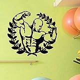WERWN Arte Creativo Moda Fitness Sticker Fitness Sticker Vinilo Decoración de Pared Mural Fitness Sticker Gift