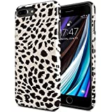 DorisMax iPhone 8 Plus Case,iPhone 7 Plus Case[Pass 15ft. Drop Tested] Cover with Fashionable Designs for Girls Women,Protective Phone Case for Apple iPhone 7 Plus/iPhone 8 Plus Nice Leopard