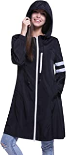 Fancyqube Women's Lightweight Packable Outdoor Hooded Windproof Jacket Waterproof Coat Windbreaker