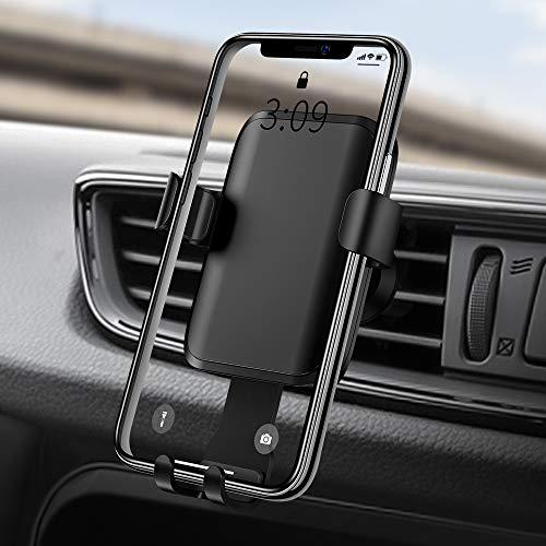 Warxin Soporte Movil Coche, Gravedad Soporte Móvil para Coche Rejilla del Aire Rotación Ajustable Universal Gravity Automatico Soporte Teléfono Auto para iPhone Samsung Huawei Smartphone Etc
