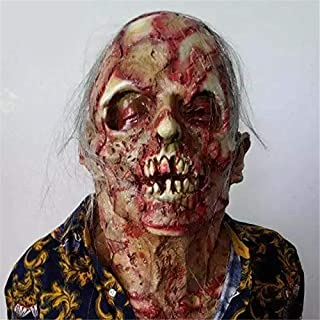 Q Halloween Decorations, Bloody Zombie Mask Halloween Decor, Horror Scary Halloween Decoration for Halloween Party Role Pl...