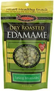 Seapoint Farms Dry Roasted Edamame, Wasabi, 3.5-Ounce Pouches (Pack of 12)