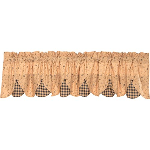 VHC Brands Maisie Valance 18x72 Country Curtain, Tan