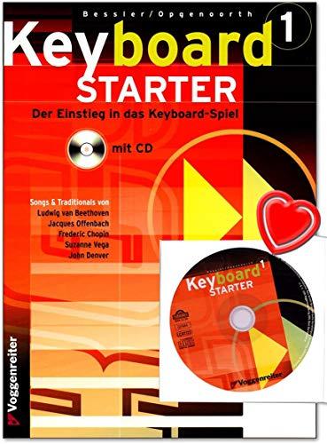 Keyboard Starter Band 1 - Jeromy Bessler - Kompetent und fundiert: Der Keyboard-Kurs für den Selbstunterricht und für Musikschulen mit CD und bunter herzförmiger Notenklammer