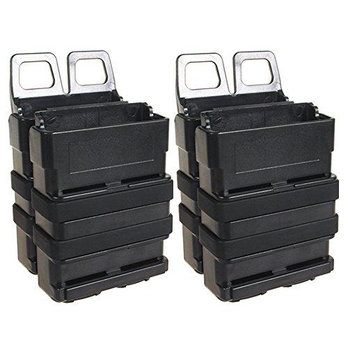 loglife Tactical Magazine Pouch Bag Holster 5.56 Fast Mag for M4 MAG Polymer Black DE (Pack of 2 BK)