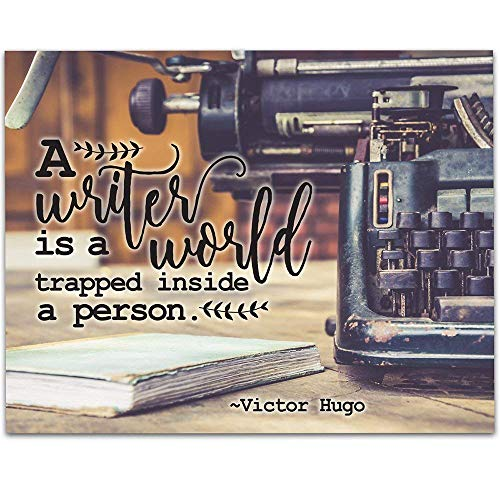 Vintage Typewriter Writing Quote - 11x14 Unframed Art Print - Great Library Decor or Gift Under $15 for Writers