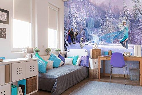 Komar - Disney - Fototapete FROZEN FOREST- 368 x 254 cm, Tapete, Wand Dekoration, Eiskönigin, Elsa, Anna, Olaf - 8-499