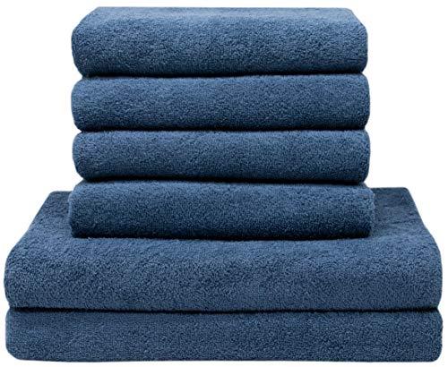 ZOLLNER 4 Handtücher 50x100 cm, 2 Duschtücher 70x140 cm, 100% Baumwolle, 400g/qm