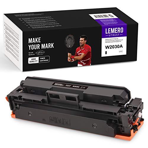 LEMERO Utrust Cartuchos de tóner 415A (sin chip) compatibles con HP W2030A para HP Color Laserjet M454 M454dn M454dw pro MFP M479 M479dw M479fnw M479fdn M479fdw impresora (negro)