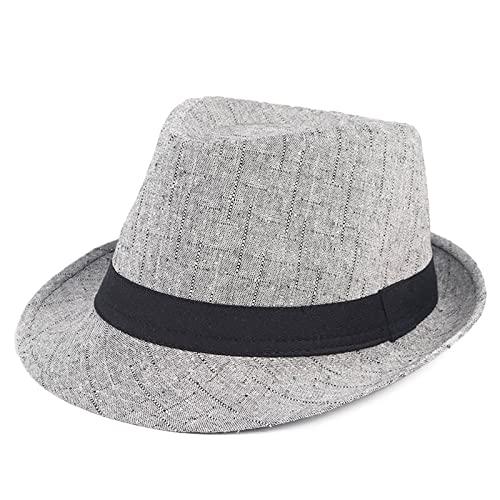 Donggu Sombrero Panama Gangster para Hombre Mujer,Sombrero de Fedora Trilby, B,
