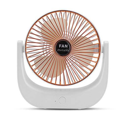 sxhw Ventilador De Mesa para Oficina Hogar Viajes Al Aire Ventilador USB Silencioso Portátil Ventilador De Carga USB-Oro