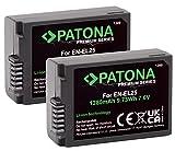 PATONA Premiun EN-EL25 (2X) - Compatible con Nikon Z50 Z fc