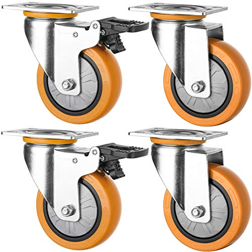 Ruedas giratorias para muebles y cuna 75mm 3 '' plato ruedas...