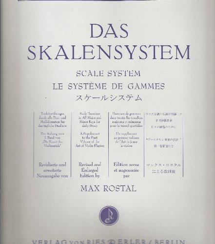 Ries und Erler FLESCH CARL - SCALE SYSTEM Tuition books & learning materia Violin