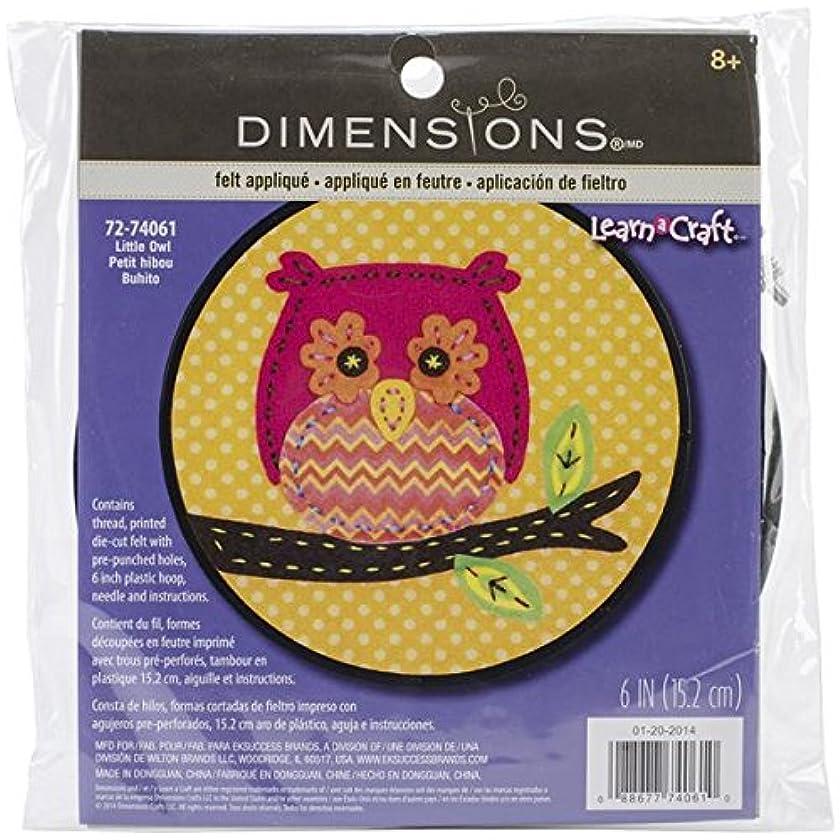 Dimensions Little Owl Felt Applique Kit Craft for Beginners, 6'' D