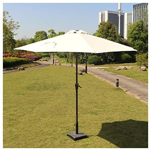 YDDZ Sombrillas de Exterior Sombrillas de Playa Protección UV Sombrillas de Mercado con Diseño de Manivela Adecuadas para Sombrillas de Carpa al Aire Libre/Jardín/Balcón/Terraza