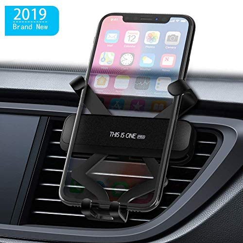 Car Mount Phone Holder,Gravity Phone Mount Auto-Clamping Car Phone Holder Shockproof Universal Car Phone Mount Mini Cell Phone Holder for Car for All Smartphones 4.0-6.5 inches (Black)
