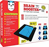 Play Panda Brain Booster Type 1 (Junior) - 56 Puzzles Designed to Boost Intelligence - with Magnetic Shapes, Magnetic Board, Puzzle Book and Solution Book - for 7 8 9 10 Upto 15 Years