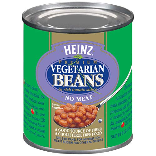 Heinz Vegetarian Beans in Rich Tomato Sauce (8 oz Cans, Pack...