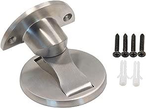 ONLEE 304 Stainless Steel Magnetic Door Stop Door Catch Metal Door Holder Doorstop Heavy Duty Brushed Finish with Screw Mount -Silver