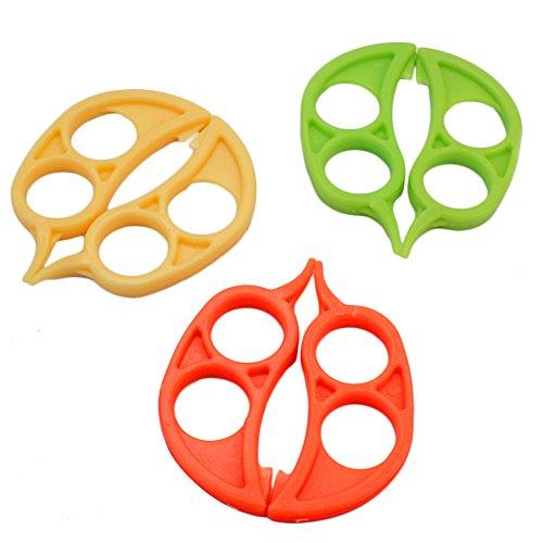 Merssavo 6 pieces Eplucheur d'orange en Plastique pour Orange/Pomme/Past¨¨que Peelers Couleur Random