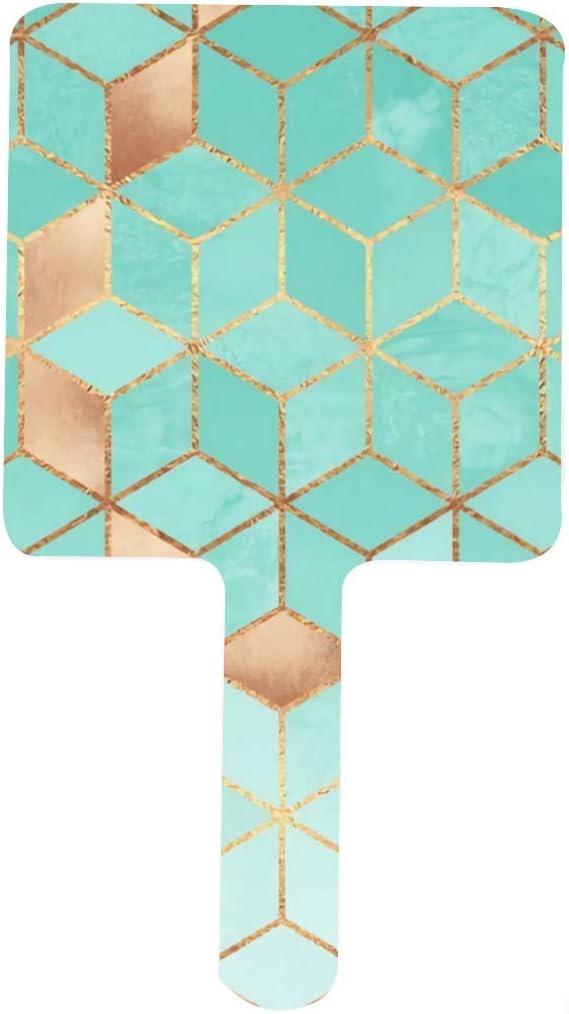 Soft Gradient Aquamarine Hand Mirror Finally resale start Makeup HD 35% OFF Van Square