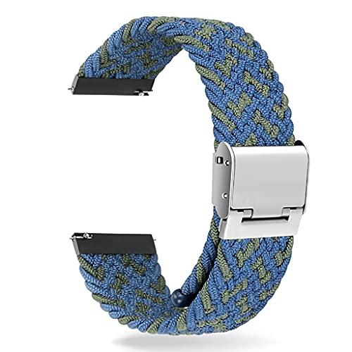 gujiu Correa de Reloj, Correa Ajustable Universal de Nylon elástico Trenzado Solo Bucle (Color : 22, Size : 22mm)
