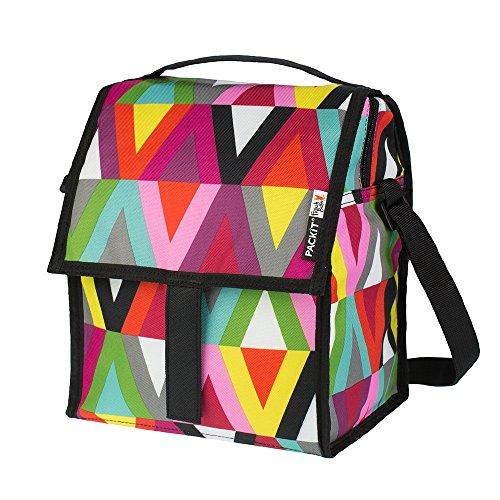 PACKIT Kühltasche Einfrierbar Deluxe Lunch Bag, Viva, 17.8 x 21.6 x 27.9 cm, 6.4 Liter