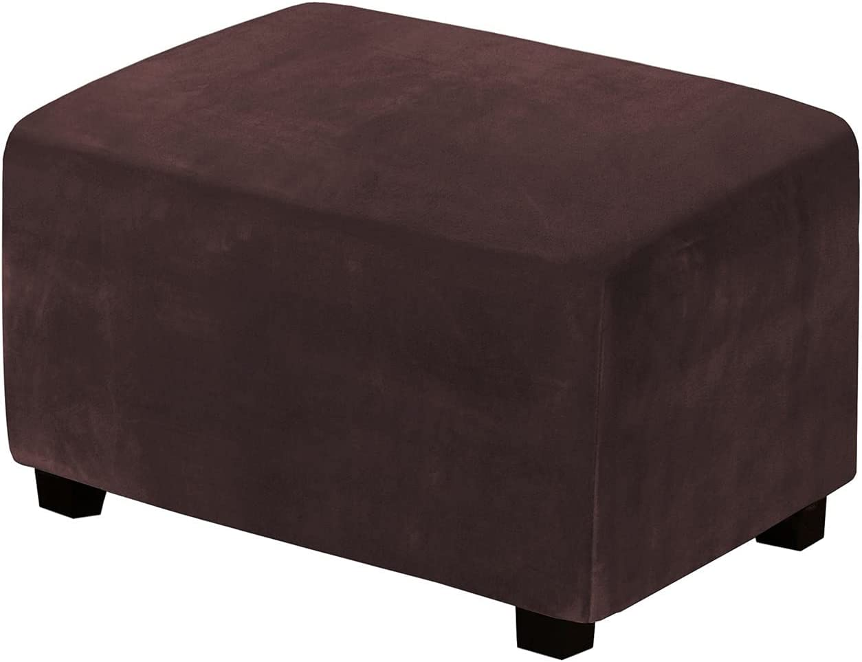 YXLJC Velvet Ottoman Max 90% OFF Slipcovers Form Lowest price challenge Remo Fit Footrest Rectangle