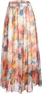 Women's Blossom Floral Chiffon Maxi Long Skirt