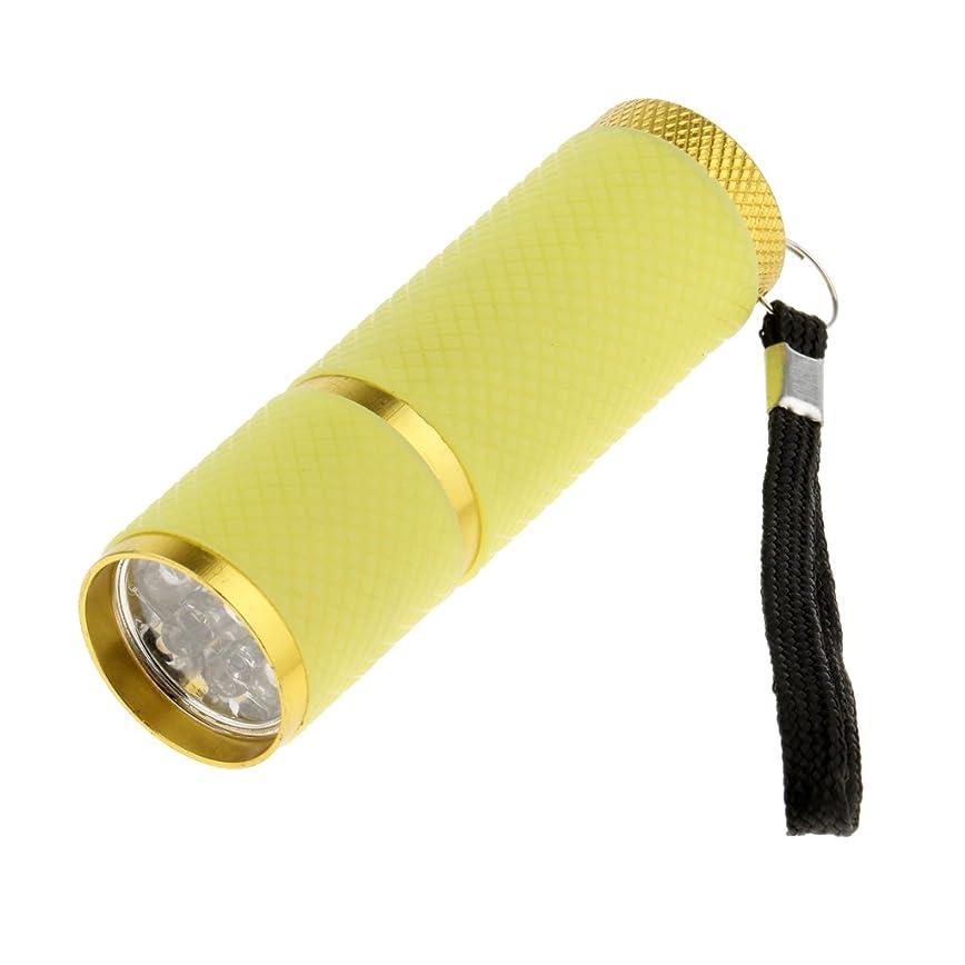 デマンドヶ月目なすKesoto ネイルドライヤー ミニ 9w LED釘 ドライヤー 懐中電灯 LED蛍光灯 ジェルネイル用 4色選べ - 黄