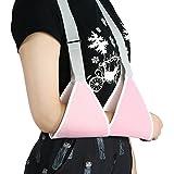 ZJchao - Fascia per braccio, supporto per gomiti, design leggero, ergonomico, per infortuni o interventi chirurgici, regolabile, morbida e imbottita, per adulti e bambini, colore: rosa