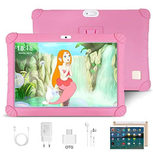 4G Tablet 10 Pollici Android 9.0 4GB RAM e 64GB di Memoria Quad core/Dual SIM / WIFI / GPS/Bluetooth/OTG/Type C/Netflix/ Tablet con Wifi Offerte