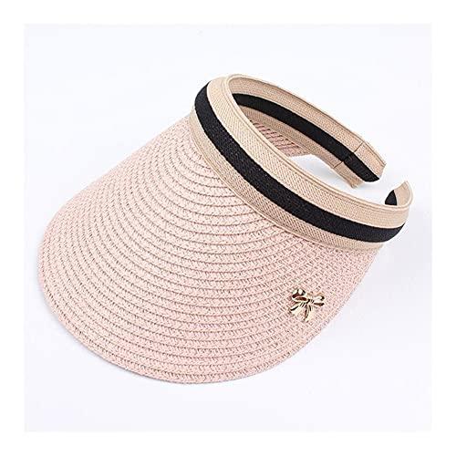 sombrero de copa Sombreros de sol de mujer hechos a mano BRICOLAJE Paja Bowknot Visor Caps Padre-Niño Casquillo de verano Casual sombrero sombrero vacío top sombrero playa sombrero para el sol