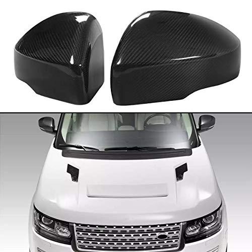 LADOG Fibra De Carbono Real 2X Añadir Auto En La Página Retroview Espejo De Espejo Capps Shell para Range Rover L405 2013-2017