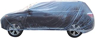 Etopars Clear Plastic Disposable Universal Elastic Band Car Covers Rain Dust Garage Cover Waterproof Temporary Auto 16ft X...