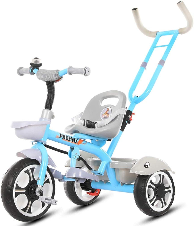 Felices compras Xiuxiushop Xiuxiushop Xiuxiushop Bicicleta de Triciclo para Niños de 1 a 5 años de Edad Masculino y Femenino Cochecito para Niños Cocherito Ligero Bebé Caminante portátil Niños  tienda en linea