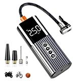 LAOPAO Mini Tire Inflator Portable Air Compressor for Car Tires Handheld Air Pump 12V DC Tire Pump with Digital LED Display and Emergency LED Light for Car Bike Tires and Other Inflatables
