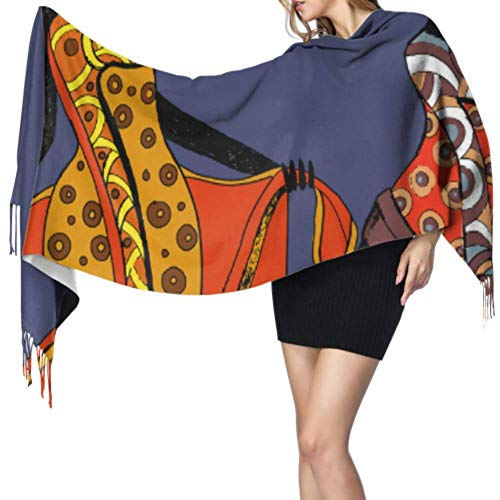 wangluhao Africana Donna Tribale Etnico Cashmere Wrap Sciarpa Donna Sciarpa Leggero Cashmere Donna Sciarpa 196x68cm Grande Morbido Pashmina Extra Caldo