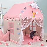 Princesa Tienda Campaña para Niñas Grande Rosa Princesa Castillo Carpa Infantil Niñas Tiendas de Juegos para Interiores Regalo para Niños Niñas (Decoraciones no Incluidas)