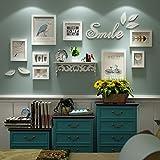 DONG Foto wand Foto-Rahmen-Collage Foto-Wand-Foto-Rahmen-Vogel-Wand-Aufkleber-Foto-Rahmen-Foto-festes Holz-Foto-Wand-Wohnzimmer-Wand kreativ ( Farbe : All white )