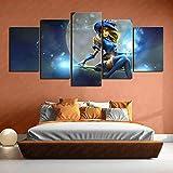 lol shining girl lux wallpaper lienzo cuadros artísticos de pared 5 piezas Ambiente festivo 100x50cm sin marco
