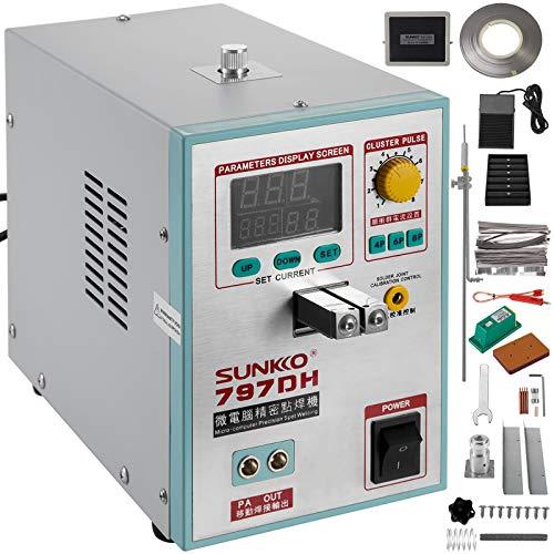 Mophorn 797DH Pulse Spot Welder 0.2mm Battery Welding Machine 110V Battery Spot Welder & Soldering Station Portable Pulse Welding Machine For Battery Pack 18650 14500 Lithium Batteries