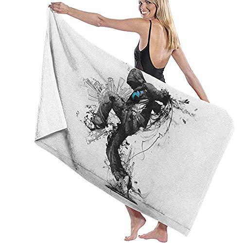 Badhanddoek Wrap Action Messenger Prints Womens Spa Douche en Wrap Handdoeken Zwembad- Wit