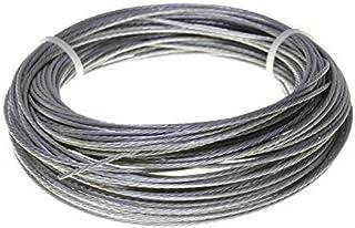 1-100 meter kabel, ROESTVRIJ STAAL kabel 2mm 7x19 zacht roestvrijstalen kabel INOX V4A A4 roestvrij voor leuning touw draa...